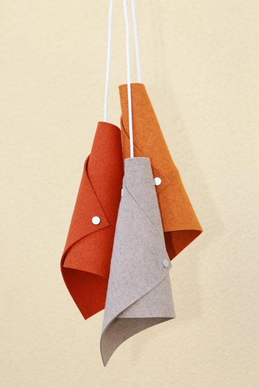 Designer Lampe Triplets Filz 180 cm Kabellänge